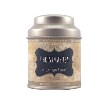 Christmas tea tin small