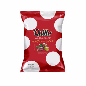 Quillo Chips 100% Olive Oil and Flower of Salt 130 gram