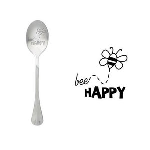 """One Message Spoon """"Bee Happy"""""""