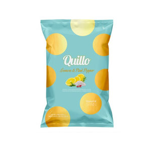 Quillo Chips Lemon & Pink Pepper 130 gram
